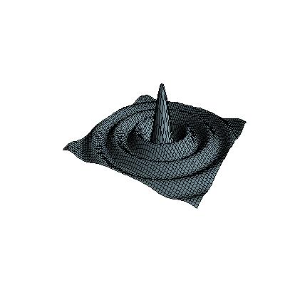 Sinc function in 3D